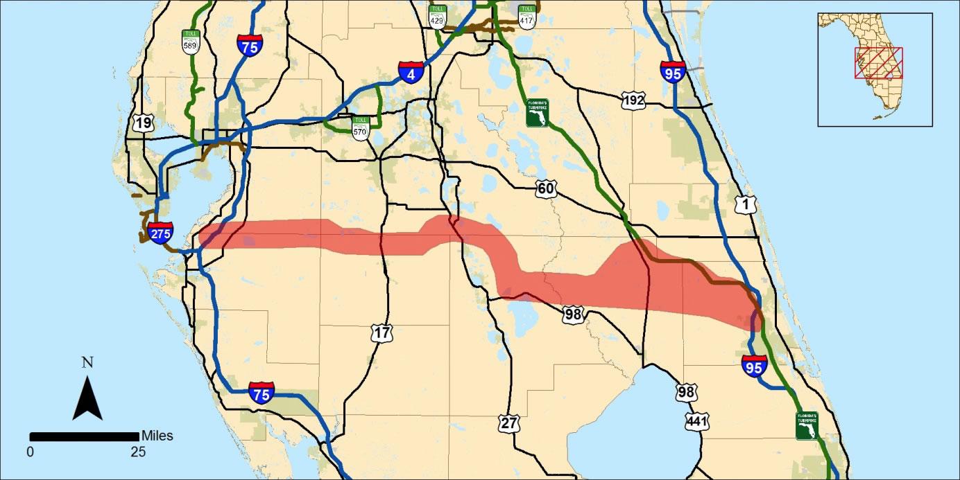 WwwPeakTrafficorg - Florida map i 95