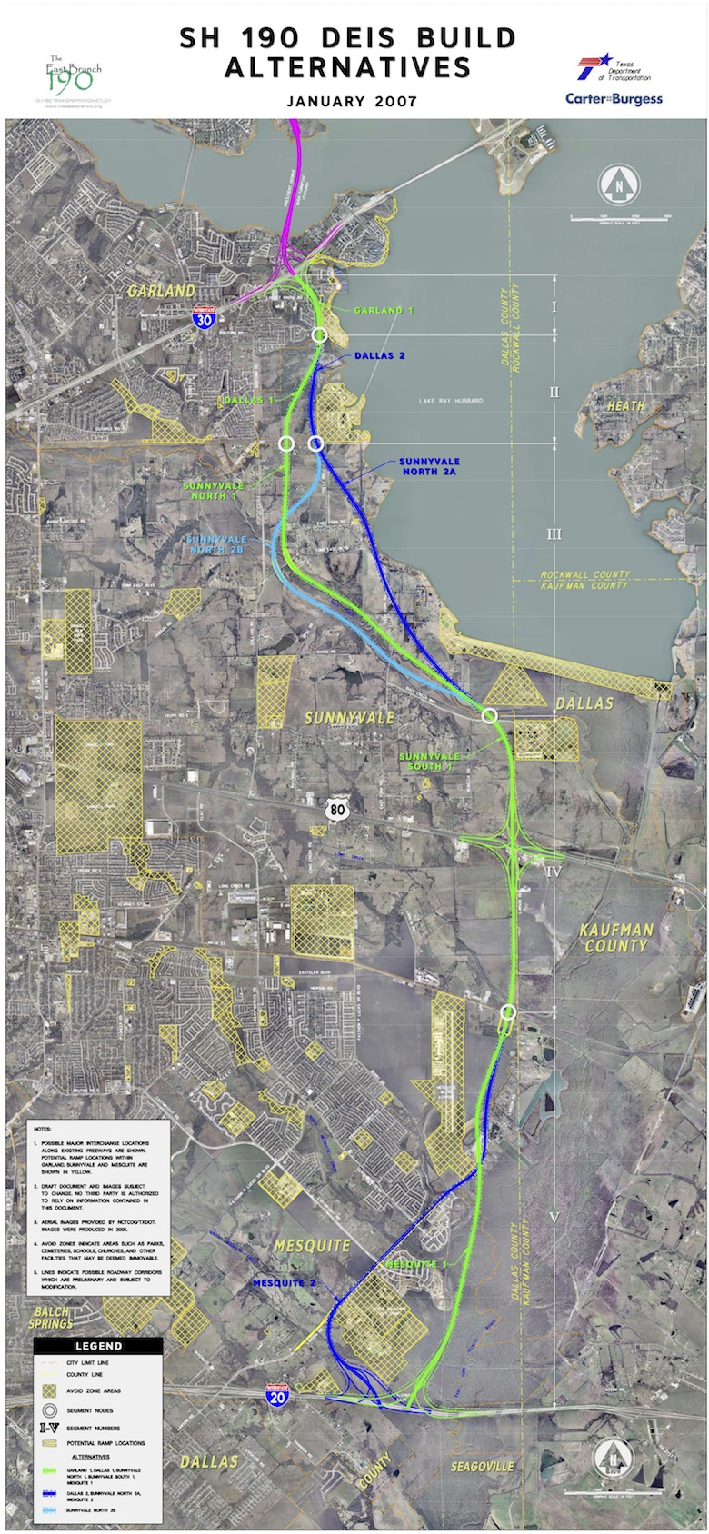 In 2000 the north texas tollway authority ntta began an updated more detailed study to develop the section from sh 78 to ih 30 as a tollway