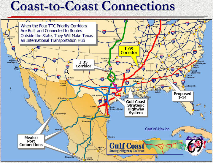 Super Highway From Canada To Mexico Map NAFTA Superhighways