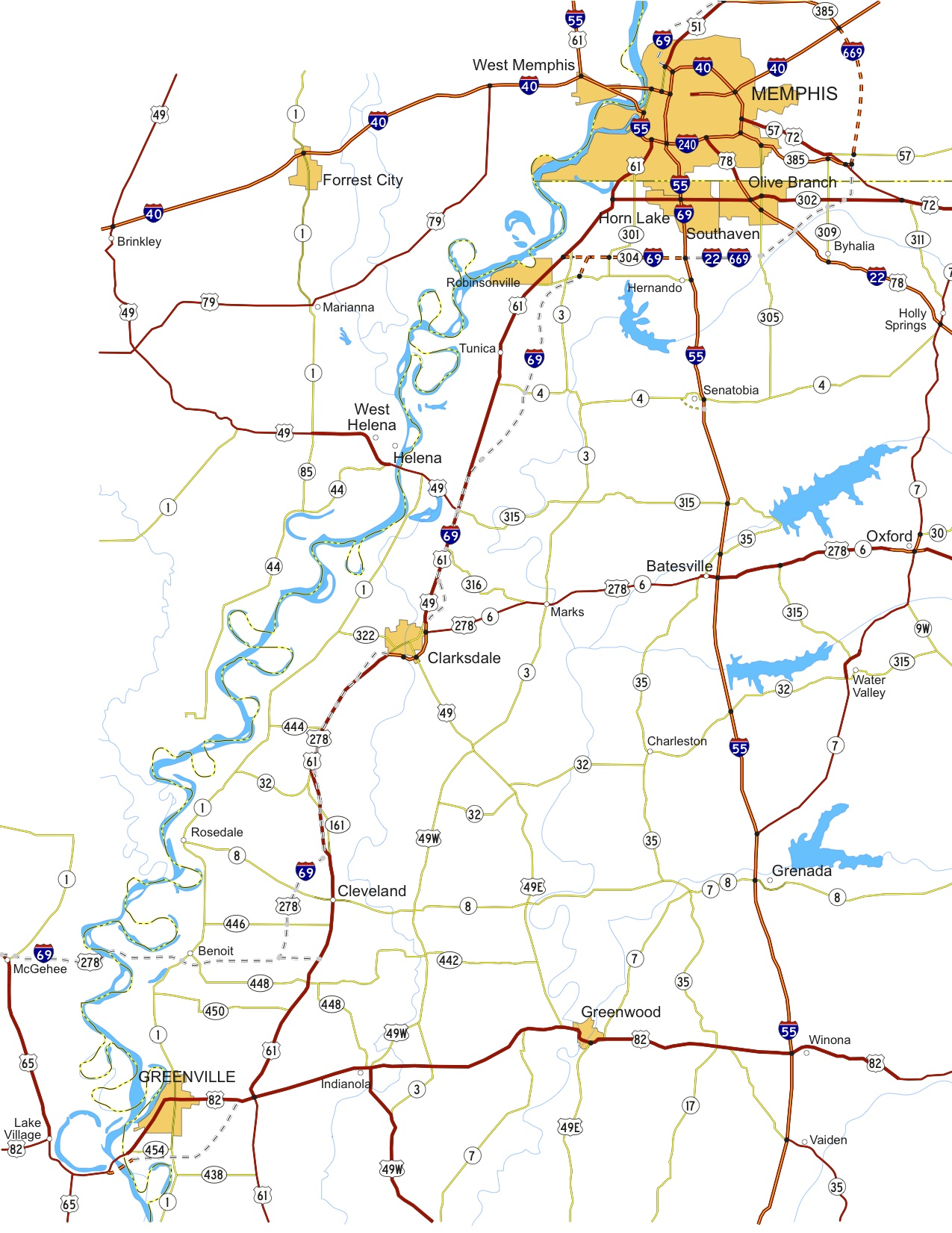 I69 Arkansas Map.Www Peaktraffic Org